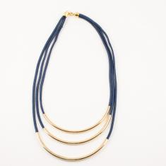 Mountaineering Necklace Triple Blue