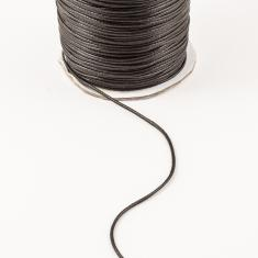 Waxed Linen Cord Black (1mm)