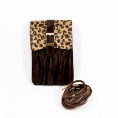 Women's Bag Leopard Fur Brown