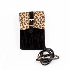 Women's Bag Leopard Fur Black