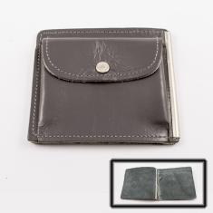 Leather Wallet Gray (10x9cm)